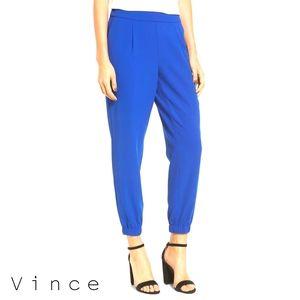 Vince. Silk Jogger Royal Blue Pants M